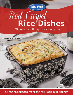 Red Carpet Rice Dishes: 28 Easy Rice Recipes for Everyone
